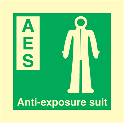 Anti-exposure suit - IMO Signs