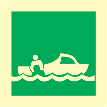 Rescue Boat - IMO Signs