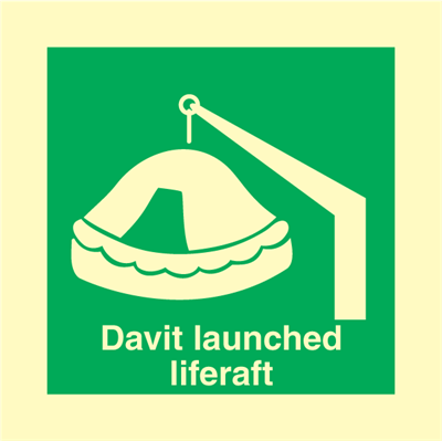 Davit Launched Raft - IMO Signs
