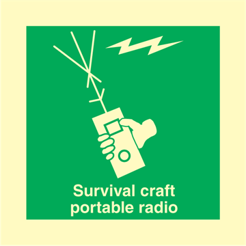 Survival Craft Portable Radio - IMO Signs