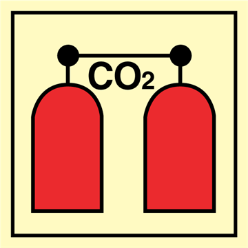 CO2 release station - Fire Control Signs