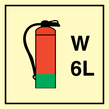 Water Extinguisher 6 L - Fire Control Signs
