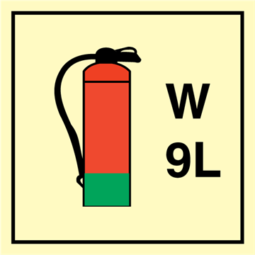 Water Extinguisher 9 L - Fire Control Signs