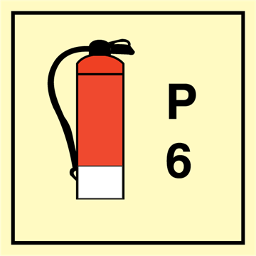 Powder Extinguisher 6 - Fire Control Signs