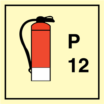 Powder Extinguisher 12 - Fire Control Signs