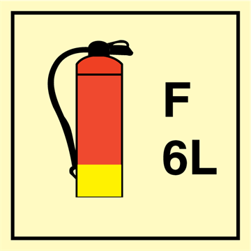 Foam Extinguishers 6L - Fire Control Signs