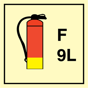 Foam Extinguisher 9 L - Fire Control Signs