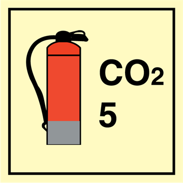 CO2 Extinguishers 5 - Fire Control Signs