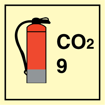 CO2 Extinguishers 9 - Fire Control Signs
