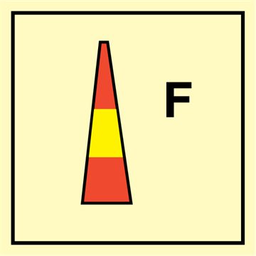 Foam nozzle - Fire Control Signs