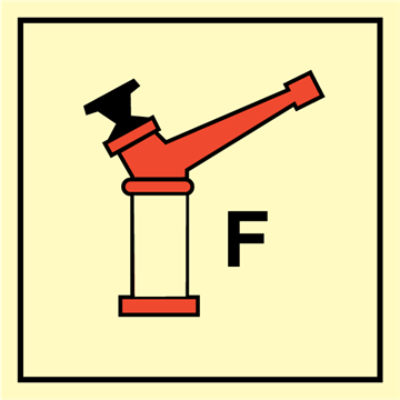 Foam monitor - Fire Control Signs