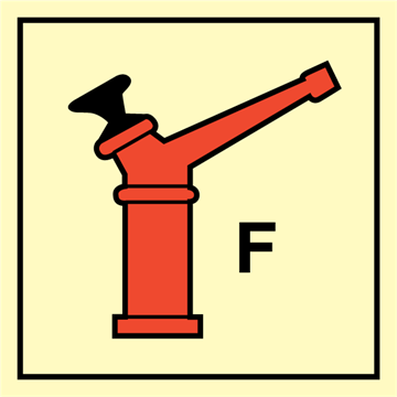 Fixed fireextinguishing bottle, - Fire Control Signs