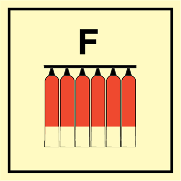 Fixed fireextinguisher battery - Fire Control Signs