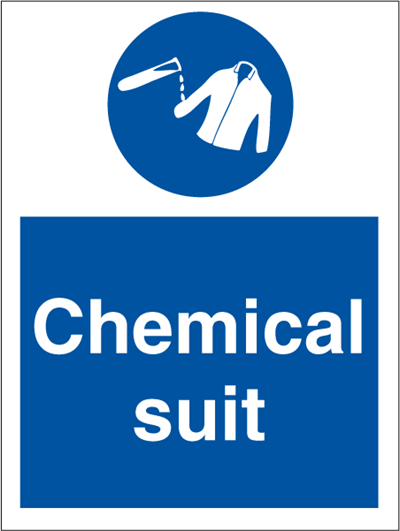Chemical Suit - Mandatory Signs