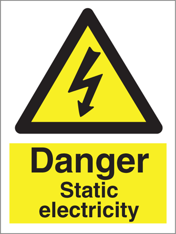Danger Static electricity - Hazard Signs