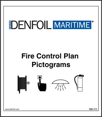 Fire control symbols booklet 10mm