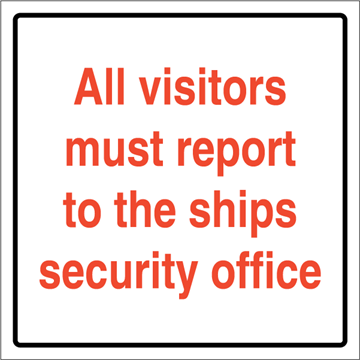 All visitors must report to